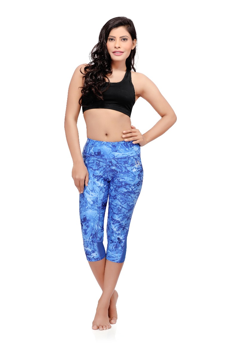 Swee Athletica Activewear Bottoms for Women - Blue
