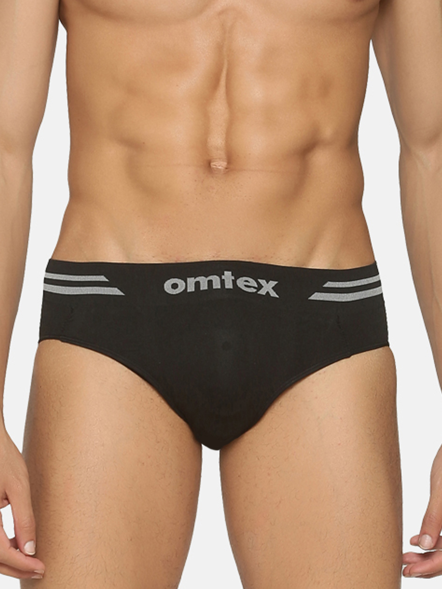 Omtex Sports Brief Seamless Supporter Black