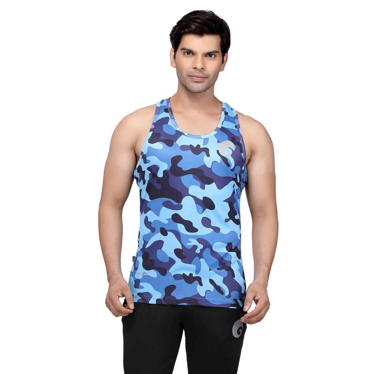 omtex Camo Blue - Sublimated Gym Tank