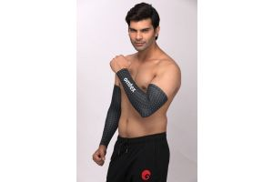 omtex Compression Arm Sleeves For Men - Black Stone