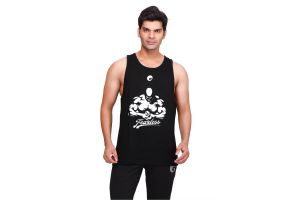 omtex Fearless Stringer For Men - Black