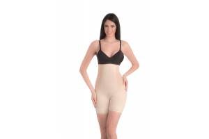 Coral - High Waist and Short Thigh Shaper - Nude