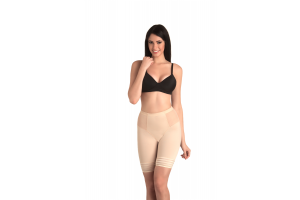 Jade - Low Waist and Short Thigh Shaper - Nude