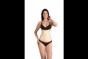 Pearl - Open Bust Tummy Cincher - Nude