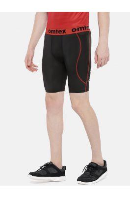 omtex Compression Shorts - Black Plain