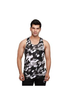 omtex Camo Grey - Sublimated Gym Tank