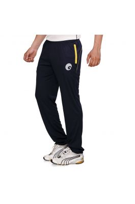 omtex Royal Track Pants - 06 For Men - Navy Blue/Yellow