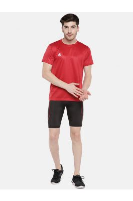 Omtex Sports  Mens T-Shirt - Red