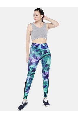 Swee Athletica Activewear Bottoms for Women - Blue/Multicolor