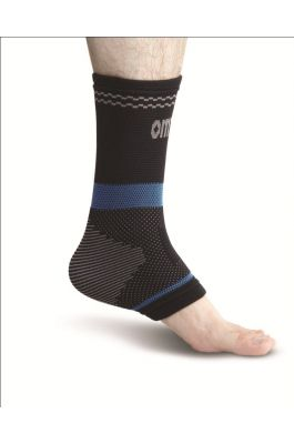 Superior Elastic Ankle Support - Black (Single Piece)