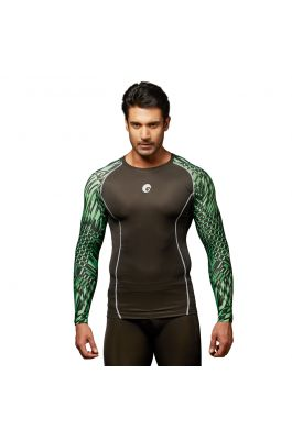 Compression Top - Animal Green