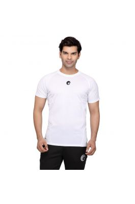 Compression Top Half Sleeves - White