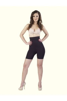Fern - High Waist and Short Thigh Shaper - Black