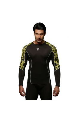 Compression Top - Floral Yellow