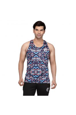 omtex Geometric Blue - Sublimated Gym Tank