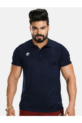 Kings Polo T-shirt Navy Blue