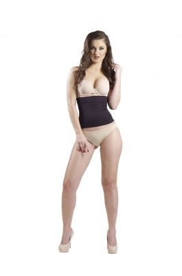 Lilac - Power Tummy Shaper - Black