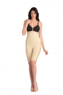 Spark - High Waist and Full Thigh Shaper - Nude