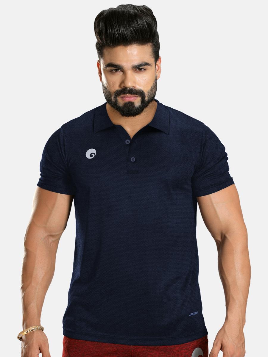 Kings Polo T-shirt Navy Blue
